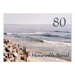 80 Memorable Years/Birthday Party-Ocean Invitations