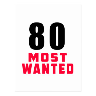 80 Most Wanted Funny Birthday Design Postcard