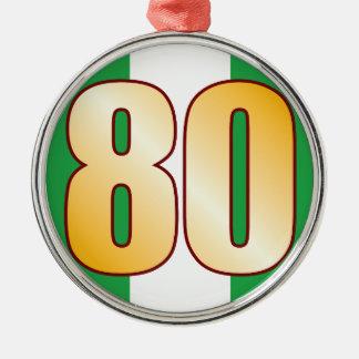 80 NIGERIA Gold Silver-Colored Round Decoration