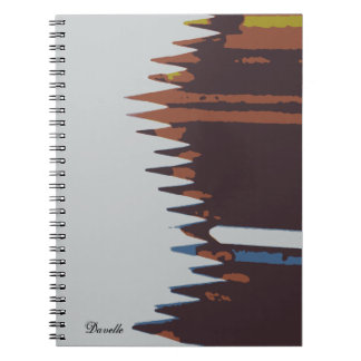 80 page blank sketch book, abstract pencil cover spiral notebook