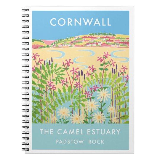 80 page notebook vintage style Camel Estuary