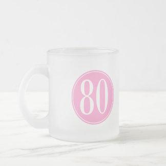 80 Pink Circle Mugs