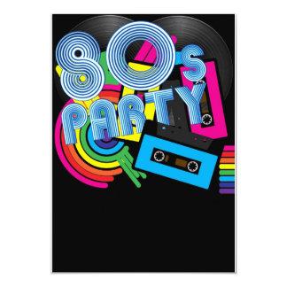 80 Retro Party 13 Cm X 18 Cm Invitation Card
