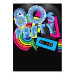 80 Retro Party 5x7 Paper Invitation Card