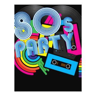 80 Retro Party Flyer