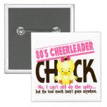 80's Cheerleader Chick 15 Cm Square Badge