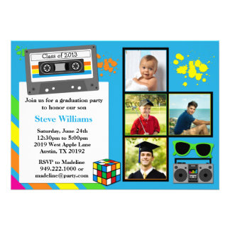 80 s Graduation Party Invitation Class of 2013