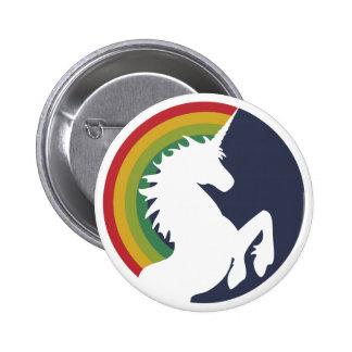80 s Retro Unicorn and Rainbow Button