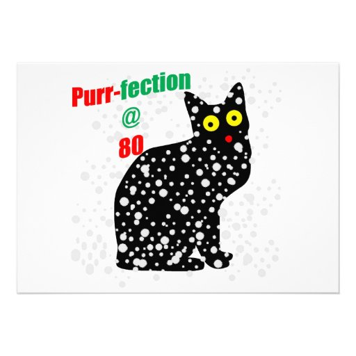 80 Snow Cat Purr-fection Custom Announcements