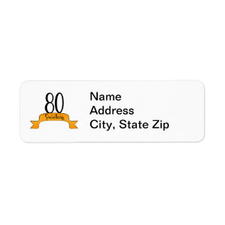 80 Something Return Address Label
