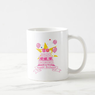80 Year Old Birthday Cake Coffee Mugs