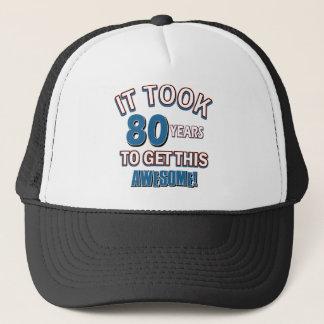 80 year old birthday designs trucker hat