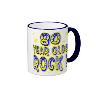 80 Year Olds Rock! (Blue) Mug