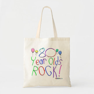 80 Year Olds Rock Canvas Bags