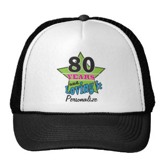 80 Years and Loving it | 80th Birthday | DIY Name Cap