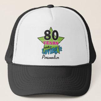 80 Years and Loving it | 80th Birthday | DIY Name Trucker Hat
