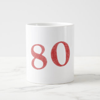 80 years anniversary large coffee mug