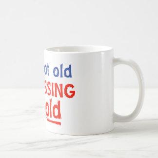 80 years is not old basic white mug