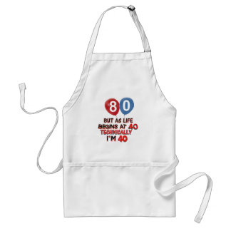 80 YEARS OLD BIRTHDAY DESIGNS STANDARD APRON