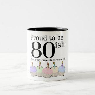 80ish Birthday Two-Tone Mug