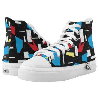 80s 90s geometric multicolore pattern retro design high tops