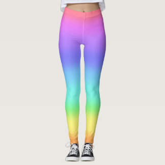 80s 90s ombre rainbow colorful hipster legging