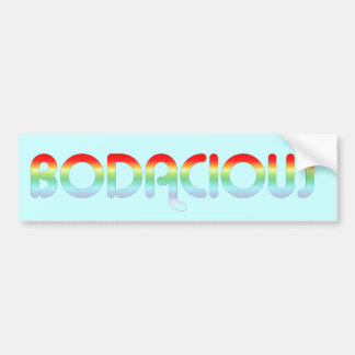 80s Bodacious Retro Bumper Sticker