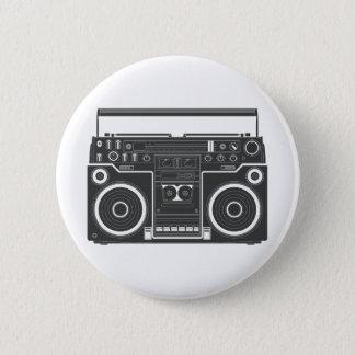 80s Boombox 6 Cm Round Badge
