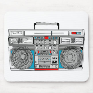 80s boombox illustration mouse mat