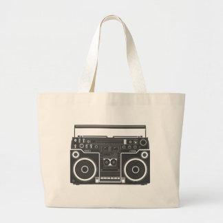 80s Boombox Jumbo Tote Bag