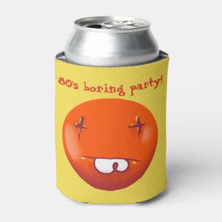 80s boring party dead smiley cartoon can cooler
