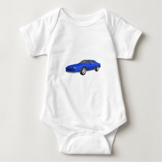 80's Camaro Sports Car: 3D Model: Baby Bodysuit
