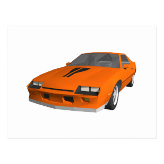80's Camaro Sports Car: 3D Model: Postcard