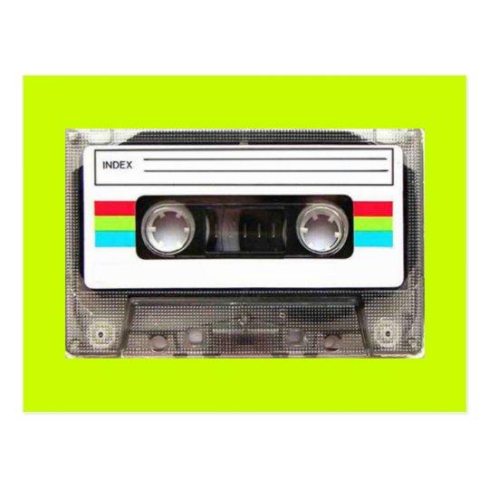 80s casette tape postcard