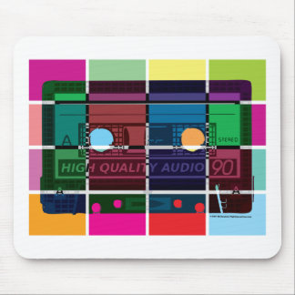 80's Cassette Color Blocks Mouse Mat