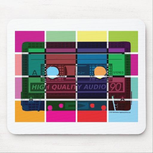 80's Cassette Color Blocks Mousepad