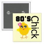 80's Chick 15 Cm Square Badge