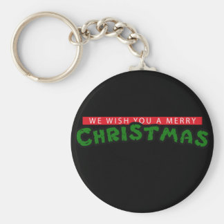 80s Christmas Basic Round Button Key Ring