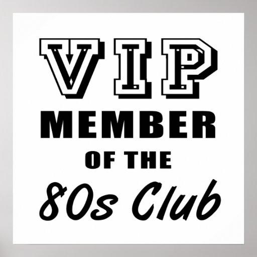 80's Club Birthday Poster