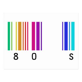 80s color design! postcard
