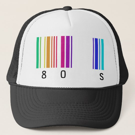 80s colour design! trucker hat