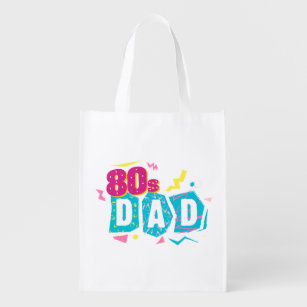 1f21349f4e49 80s Dad Neon Retro Style Design Reusable Grocery Bag