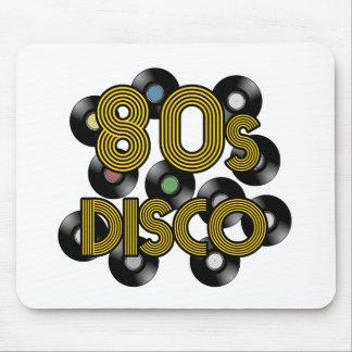 80s disco vinyl records mouse mat
