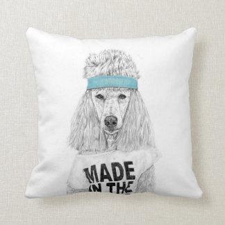 80s dog throw pillow