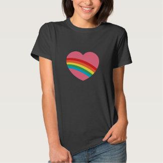 80s Eighties Rainbow Heart T-Shirt