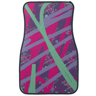 80s eighties vintage colors splash art girl car mat