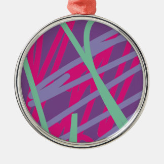 80s eighties vintage colors splash medley art girl Silver-Colored round decoration