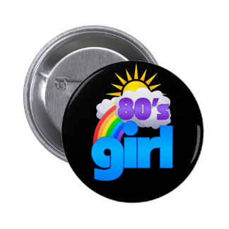 80s Girl Pinback Button