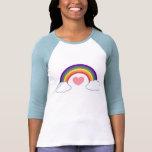 80's Heart & Rainbow - T-shirt