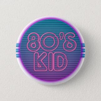 80's Kid Purple 6 Cm Round Badge